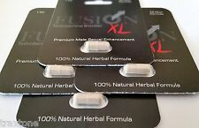 4 x Fusion XL Natural Testosterone Booster Male Enhancement Pill Hard Erection