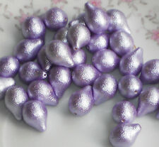 #1136 Vintage Beads Metallic Sparkle Special Occasion Holiday Pear Amethyst