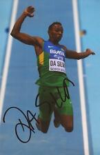ATHLETICS: MAURO VINICIUS DA SILVA SIGNED 6x4 ACTION PHOTO+COA *RIO 2016*