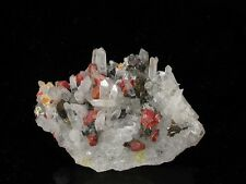 Realgar with Quartz, Sphaleritye & Pyrite, Paloma Mine! PERU