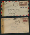 Haiti 2 censor covers to US tape #s 5091 and 5112 SSS0701