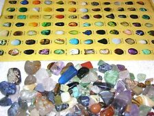 Rock & Mineral collection find sort & identify with color picture chart & stones
