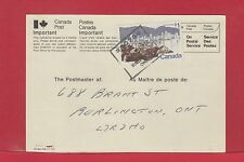 $1.00 Vancouver 1977 single use on Change of Address Notice card Canada