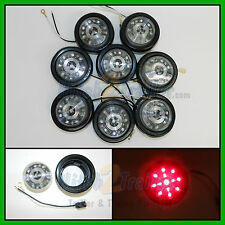 "(8) CLEAR LENS / RED 13 LED Light Trailer 2-1/2"" round,Clearance marker 2.5"""