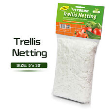 2 Packs Garden 5ft x 30ft Trellis Netting Plant Support Grow Mesh Net White