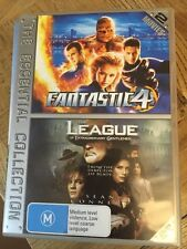 fantastic 4 and the league of extraordinary gentlemen double DVDs