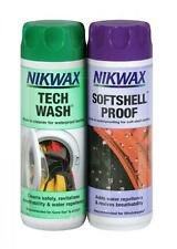 Nikwax Tech Wash Softshell Proof 300ml Twin Pack Cleaning Waterproof Protection