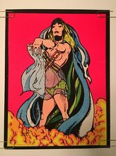 Salome Vintage Blacklight Poster Psychedelic Velvet Flocked Pin-up 1970's