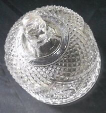 """Antique Crystal cheese butter cover dome 4.75"""" butter dish lid container"""