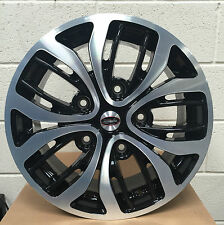 "18"" équipe dynaimcs black polished alloy wheels 5X160 ford transit incl custom"