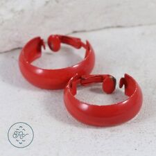 Red ENAMEL Clip-On 6.5g | Hoop Earrings AR5469