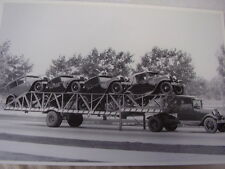 1930 1931 FORD MODEL A  NEW CARS ON HAULER  12 X 18  PHOTO  PICTURE