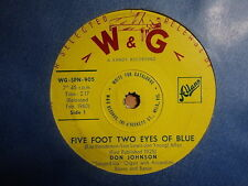 "Don Johnson ""Five Foot Two Eyes Of Blue"" W&G Hit Oz 7"""
