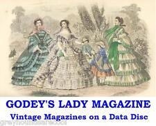 Godey's Lady Magazine Americana Collection Illustrated Vintage Mags on Data Disc