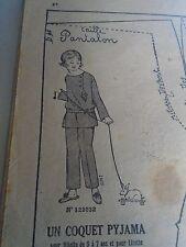"""PATRON ORIGINAL POUR LA POUPEE LISETTE  """"UN COQUET PYJAMA 1925"""