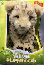 """WowWee Alive Leopard Cub Plush Robotic Sounds Animated Toy 11"""" NEW in Box RARE"""
