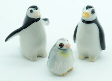 Figurine Animal Ceramic Statue Penguin Bird Family - CBP008