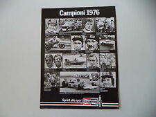 advertising Pubblicità 1977 CHAMPION e ANGEL NIETO/BARRY SHEENE/IRYO VESTERINEN