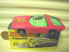 LESNEY MATCHBOX MB40 PINK VAUXHALL GUILDSMAN Grn Win BLK Label MB*