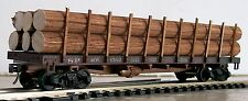 """HO Very Nicely  Detailed-  6 Pc- 3/8"""" R x 5-3/4"""" L  Real Wood Logs For Flat Car"""