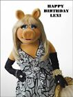 A4 MISS PIGGY MUPPETS EDIBLE ICING BIRTHDAY CAKE TOPPER