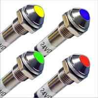 LED Signallampe Signalleuchte Kontrollleuchte 5V 12V 24V 8,2 mm Metallfass (022)