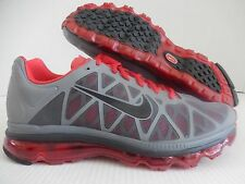 MENS NIKE AIR MAX + 2011 COOL GREY-BLACK-SPORT RED SZ 13 [429889-006]