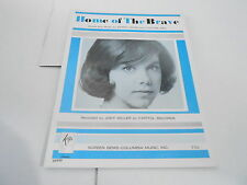 1965 vintage NOS sheet music HOME OF THE BRAVE - JODY MILLER