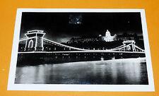 CPA CARTE POSTALE 1948  BUDAPEST HONGRIE CHAIN BRIDGE ROYAL PALACE PONT CHATEAU