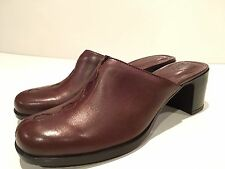 Clarks Women's Leather Clogs Mules Slip On Heels Shoes Size 8 M