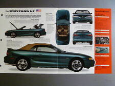 "1998 Ford Mustang GT IMP ""Hot Cars"" Spec Sheet / Folder / Brochure 3-58"