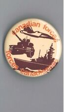 "Canadian Forces 1.75"" Pinback Button Military Gun Ship Tank Jet Plane Airplane"