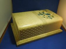 Antique Victorian 1890s Celluloid Coated Embossed Vanity Box Cherub Satin Lined
