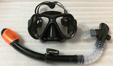High quality Scuba Snorkeling Diving Mask/ full Dry Snorkel (black)