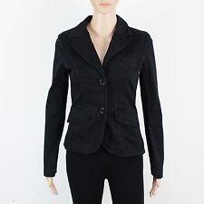 H&M Womens Size 8 Eur 36 Button Up Black Cotton Jacket