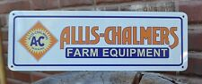 ALLIS - CHALMERS FARM EQUIPMENT METAL SIGN TRACTORS  AC FARMING EQUIPMENT