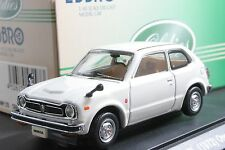 Ebbro 43297 1:43 Honda Civic GL 1973 Die Cast Model Car White