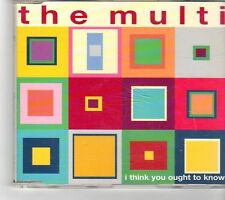 (FM257) The Multi, I Think You Ought To Know - 1999 CD