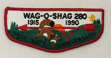 OA Lodge 280 Wag-O-Shag S6 Flap FDL; RED WWW 1915-1990 75thOA  [B0164]