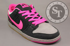 NIKE SB DUNK LOW PREMIUM QS 504750-061 DISPOSABLE BLACK PINK FOIL WHITE SZ: 11.5