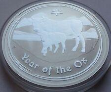 Original 2009 Australia 1 Dollar Lunar 1 oz .999 silver Year of Ox