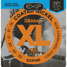 D'Addario EXP140 Coated Nickel Wound Light Top/Heavy Bottom 10-52 Guitar Strings