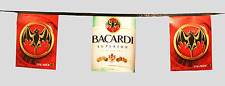 Nice BACARDI SUPERIOR FLAG BANNER w/ Bat Logo -20 ft -NEW