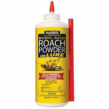 Boric Acid Roach Powder With Lure 16 ounces by Harris - BESTSELLER