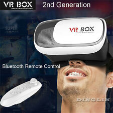 3D VR Box 2nd Cardboard Glasses Bluetooth Remote Control Virtual Reality Game