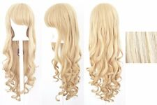 Blonde 80cm Women Long Curly Wavy Hair Wig Fashion Costume Party Anime Cosplay