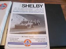 Shelby American Automotive Club magazine Vol 4 No 5 September October 1979
