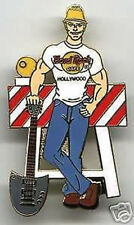 "Hard Rock Cafe HOLLYWOOD 1990s Construction Worker PIN ""MARTY"" Shovel Barricade"