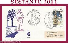 ITALIA FDC VENETIA 581 VITERBO MACCHINA SANTA S. ROSA 1984 ANNULLO VITERBO G909