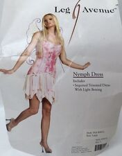 Leg Avenue Nymph Fairy Pixie Pink Sequined Dress Sz Large New